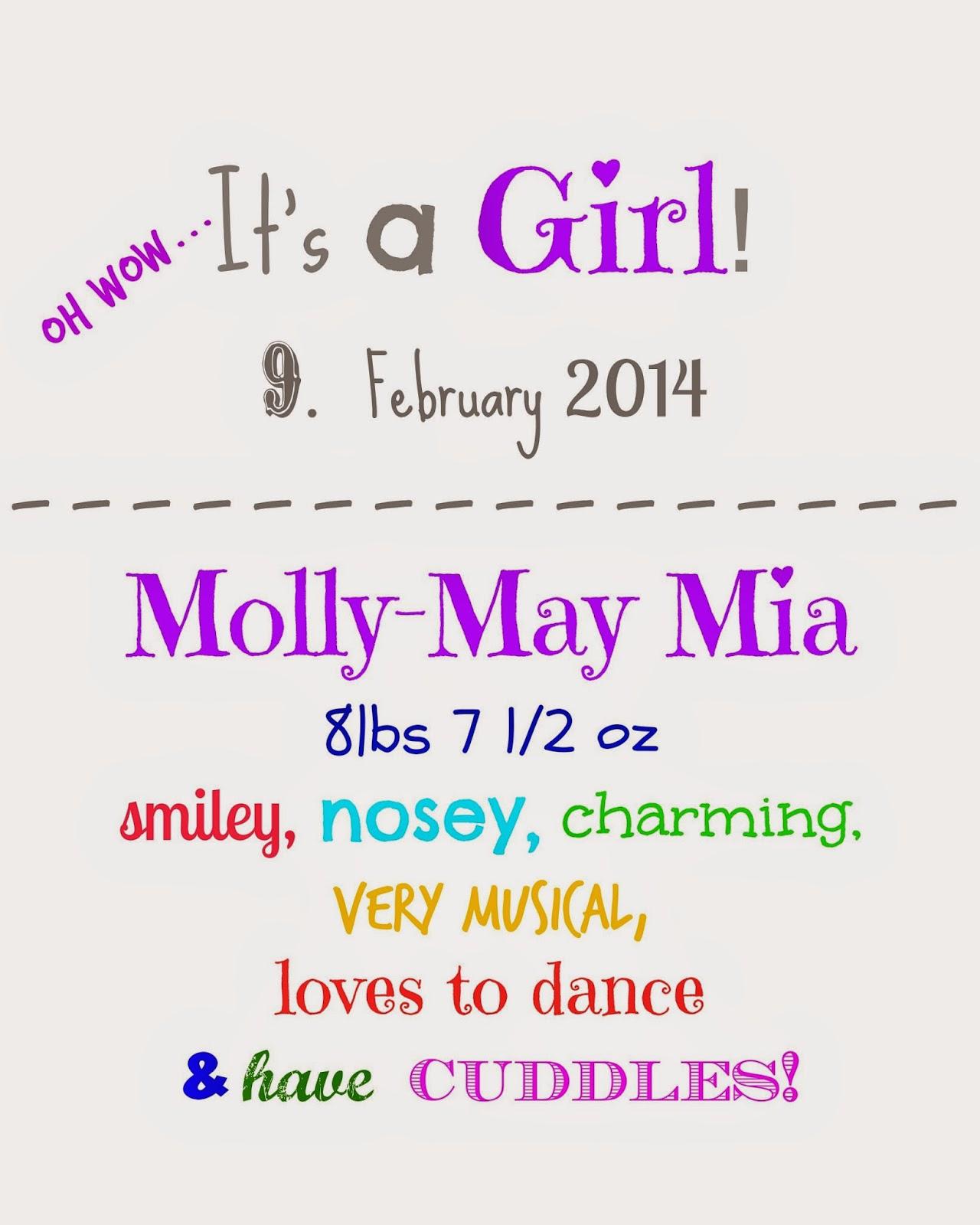 Happy 1st Birthday Darling Daughter!!