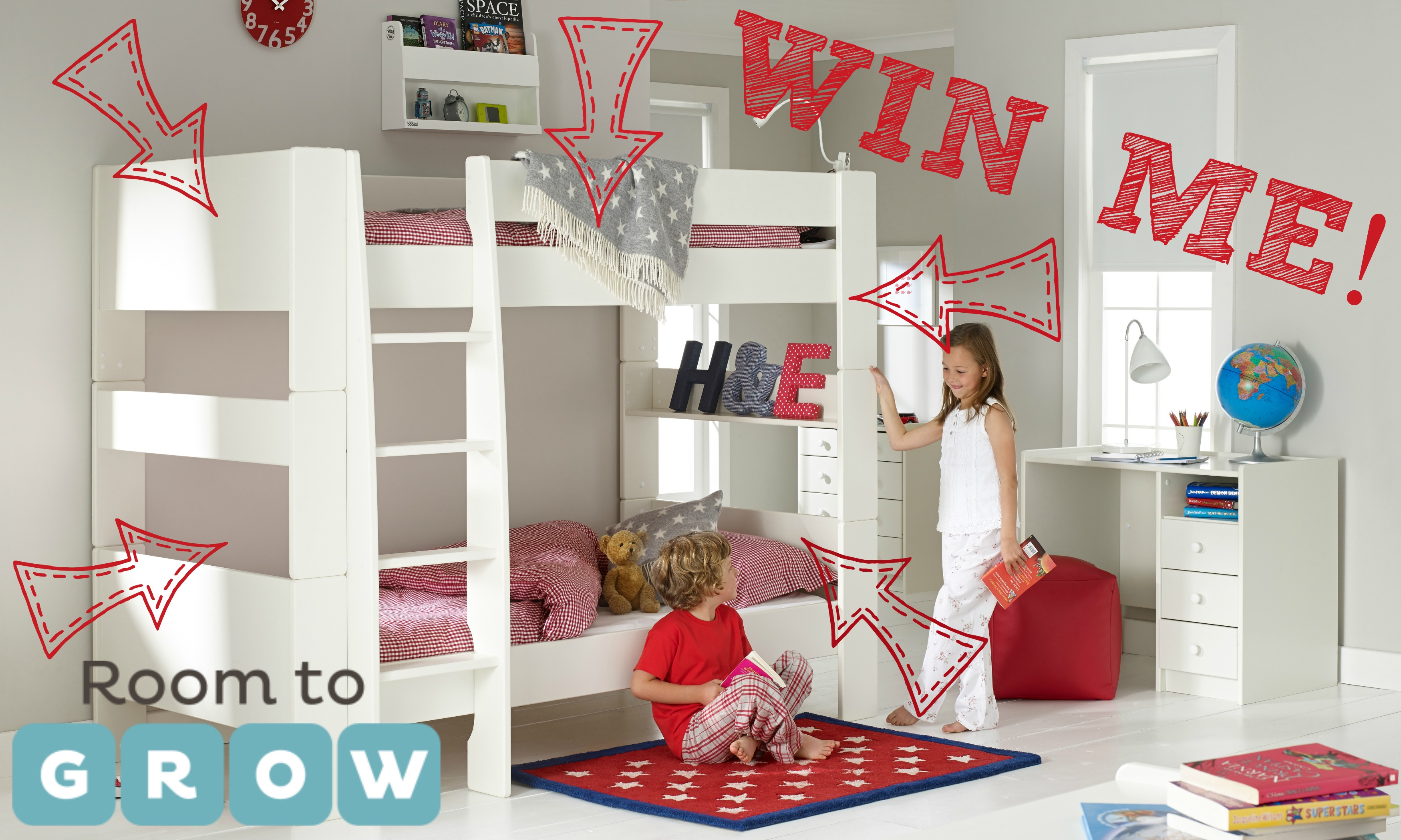 Finn s Bedroom Makeover – Phase 1 & WIN a Room To Grow Bunkbed